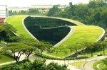 Tejado verde en Singapor