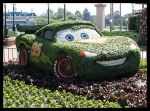 Topiario coche en Epcot (Disney World en los EE.UU.)