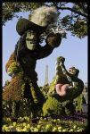 Personajes topiarios en Epcot (Disney World en los EE.UU.)
