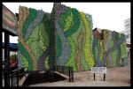 Montage of the new green wall to Edgware Road (Londres)